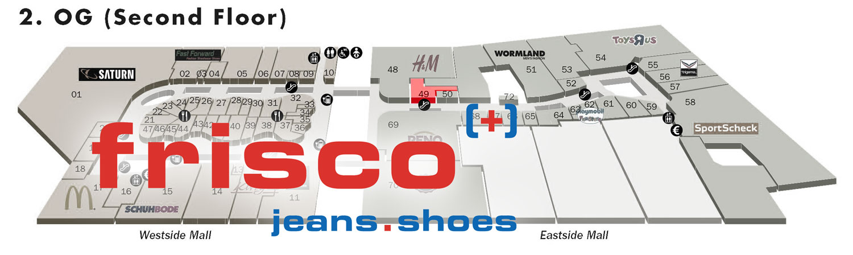 Frisco Jeans in der Mall of Berlin